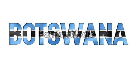 botswana flag text font