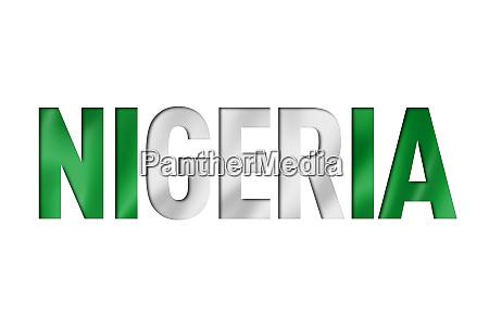 nigeria flag text font