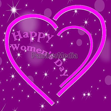 glossy purple happy womens day