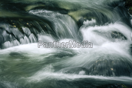 detail of a mountain stream shot