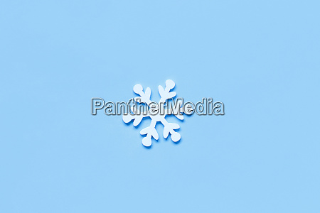 white christmas snowflake on a light