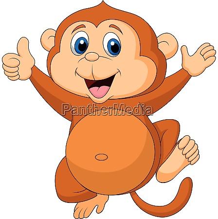 cute monkey cartoon