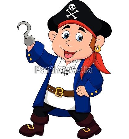 cartoon pirate kid