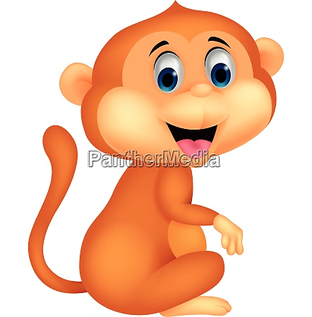 cute monkey thumb up