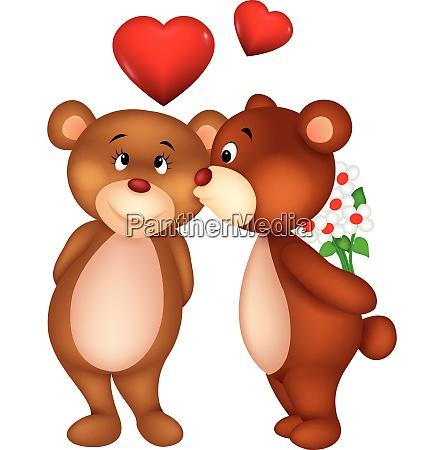 bear kissing