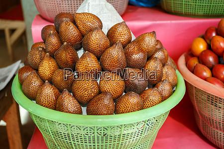 salak bali or snake fruit in
