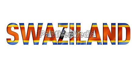 swaziland flag text font