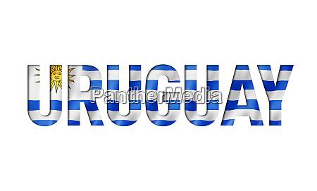 uruguaian flag text font
