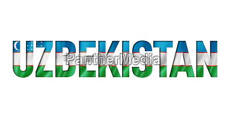 uzbekistan flag text font