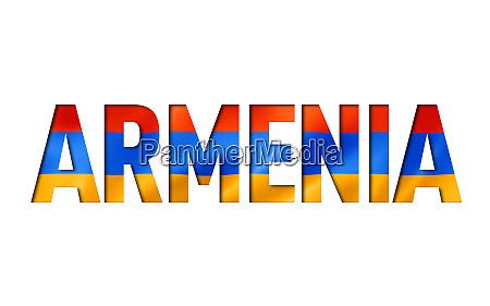 armenian flag text font
