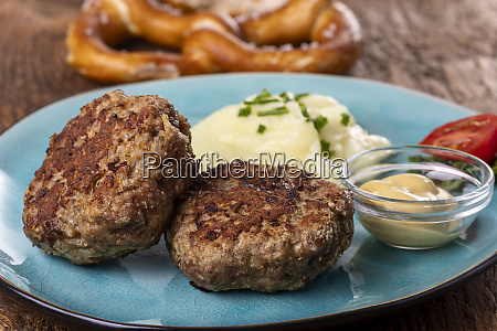 two bavarian meat loafs on a