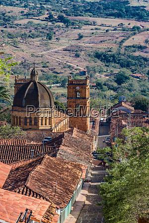 barichara skyline cityscape santander colombia