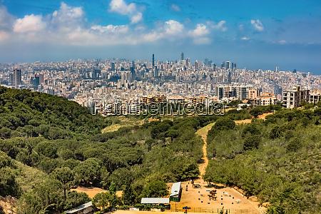 skylines cityscapes panorama beirut lebanon