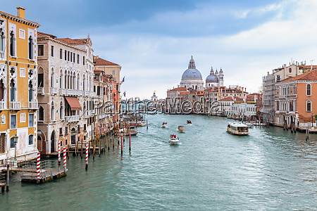 view over grand canal in venice