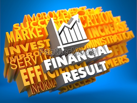 financial result wordcloud concept