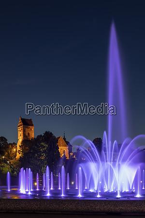 poland masovian voivodeship warsaw purple fountain