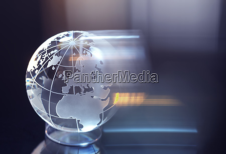glass globe representing international business and