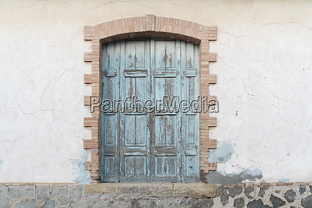 closed old shutters of a house