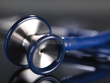 close up of stethoscope on table