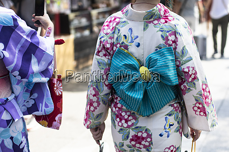 detail of traditional japanese clothing in