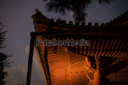 detail of a shinto temple in