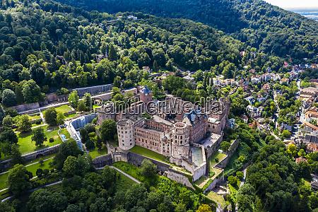 germany baden wurttemberg heidelberg aerial view
