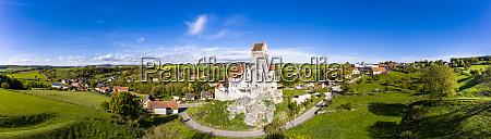germany baden wurttemberg dischingen panorama ofkatzensteincastle