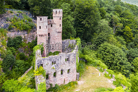 germany baden wurttemberg neckarsteinach aerial view
