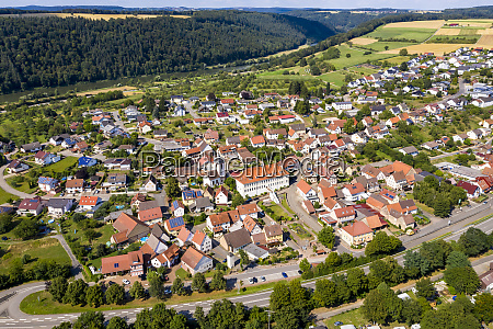 germany bavaria binau aerial view of