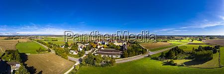 germany bavaria augsburg aerial panorama of
