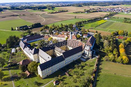 germany bavaria augsburg aerial view ofmodingenmonastery