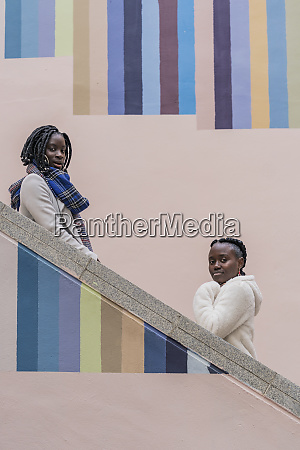 portrait of two young women on
