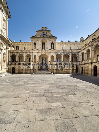 lecce cathedral against clear blue sky