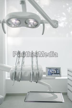 close up of moder dental instruments