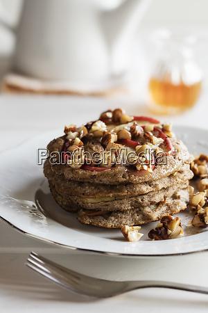plate of gluten free buckwheat pancakes