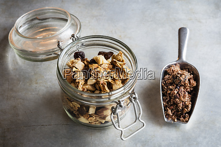 jar and serving scoop of two