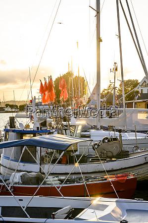 germany schleswig holstein niendorf various boats