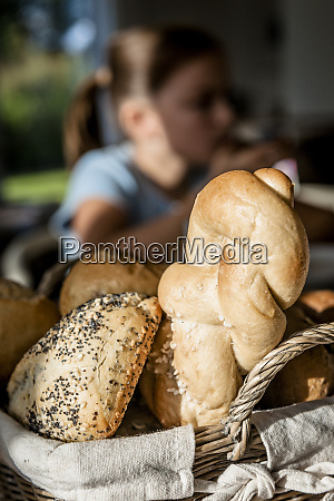bread rolls on dining table