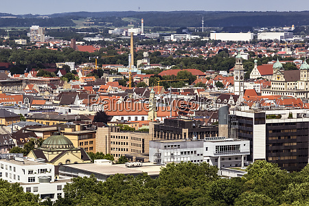 aerial view of augsburg cityscape during