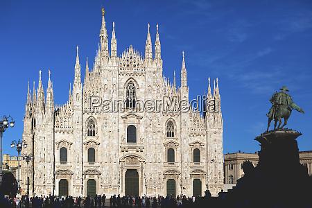 italy milan facade ofmilan cathedral