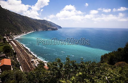railway line at the mediterranean sea