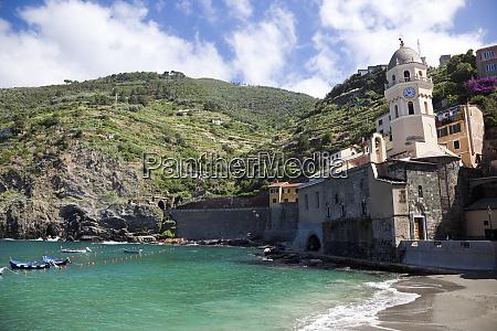 coast at vernazza cinque terre italy