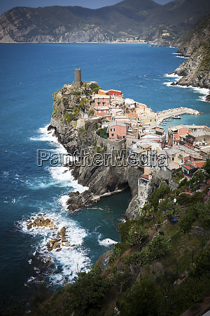 townscape of vernazza at the ligurian
