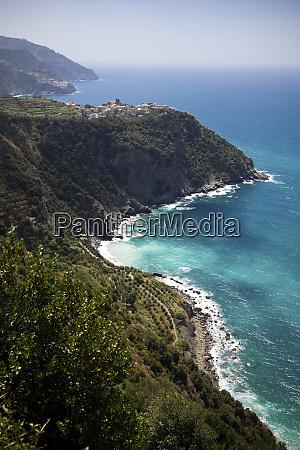 corniglia at the mediterranean sea liguria