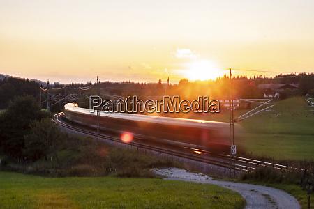 germany upper bavaria regional train at