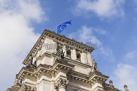 germany berlin european union flag on