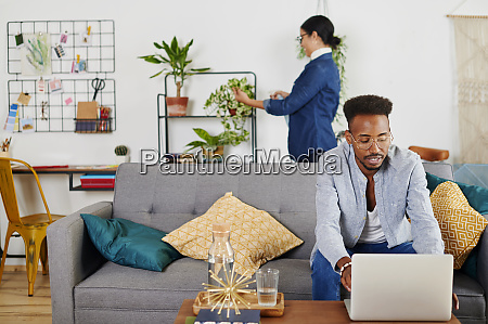multiethnic couple spending time together at