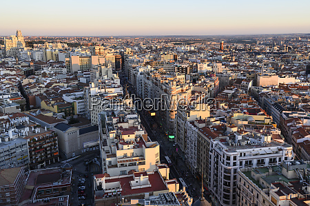 spain madrid aerial view of gran