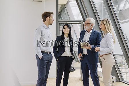 business people with tablet having a