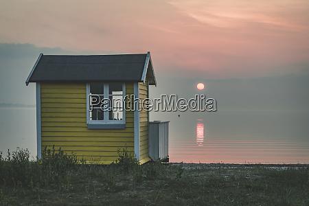 denmark aeroe aeroskobing sunset scenery with